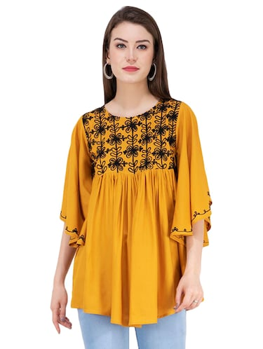 gather detail embroidered top  - 16282569 - Standard Image - 1