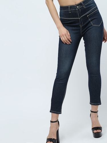 high rise stone washed jeans  - 16289706 - Standard Image - 1