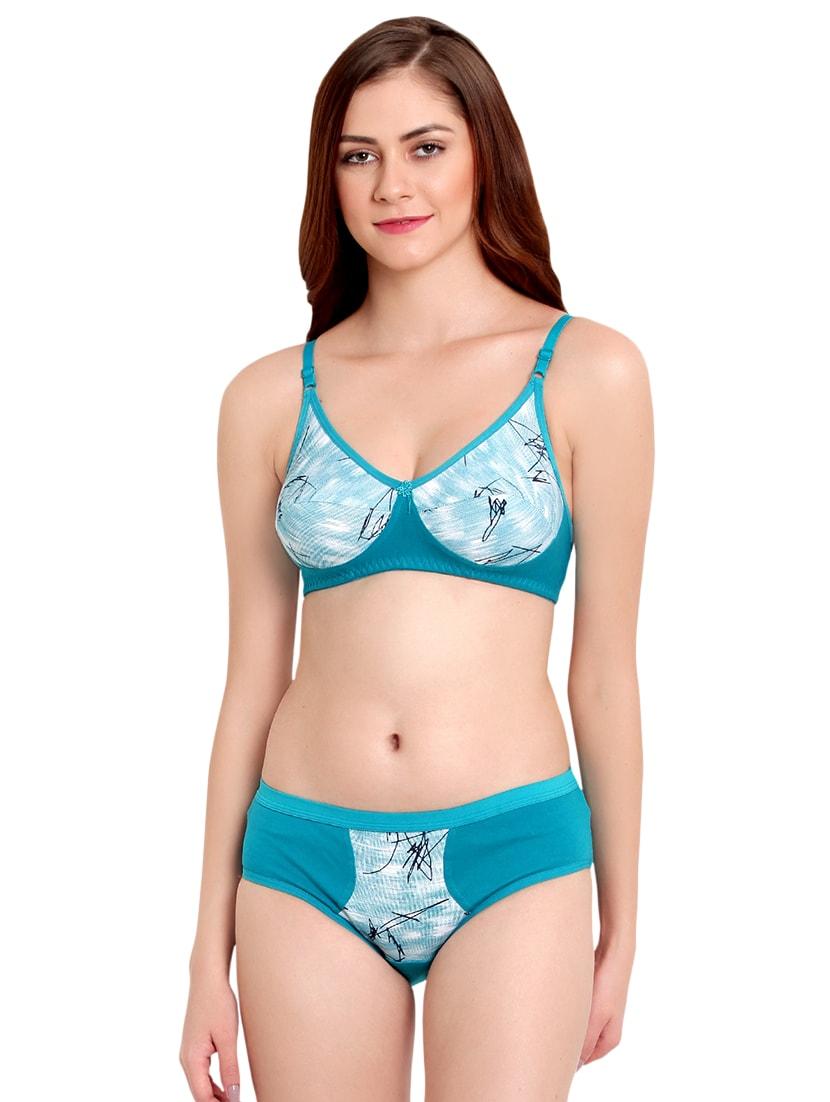 floral patch printed bra & panty set - 16490962 - Zoom Image - 1