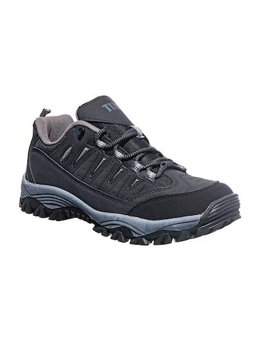 online Black Leatherette Trekking Shoes