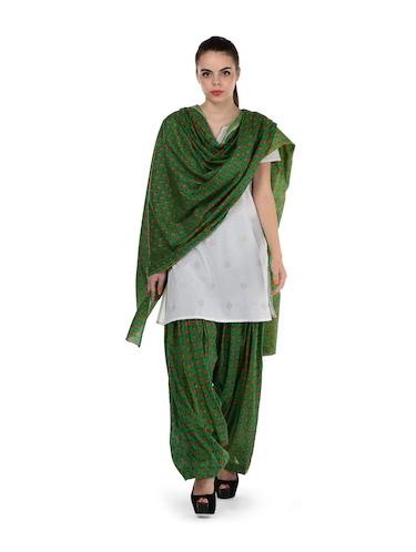 52b6d277d2 Green Printed Patiala Salwar & Dupatta