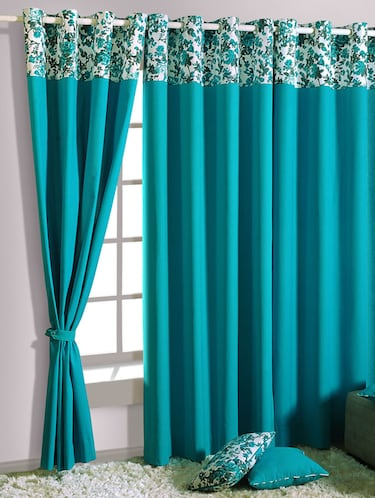 Buy online Turquoise Blue Curtains from Curtains & Accessories for Unisex  by Swayam for ₹1191 at 26% off | 2021 Limeroad.com