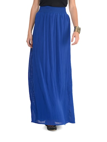 e9fea04a7c Buy Royal Blue Pleated Skirt by Femella - Online shopping for Skirts ...
