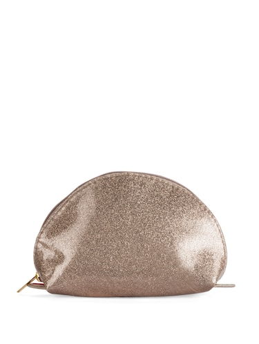 Buy Dull Gold Glitter Make-up Pouch by Toniq - Online shopping for