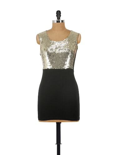 9d03c86b581 Buy Sleek Black And Gold Party Dress for Women from Reen s for ...