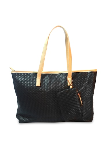 Buy Weave Quilted Black Tote Bag by Bags By Just Women - Online ... fbc535b8ab