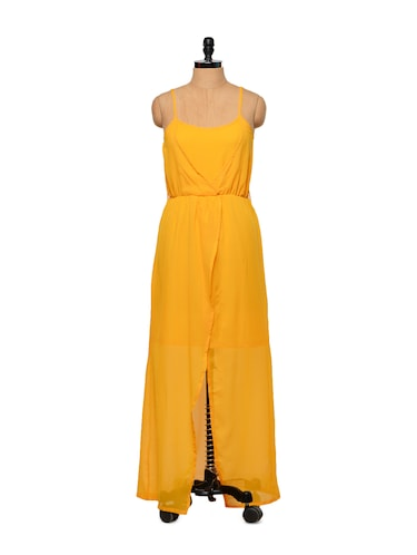 6477f6b9a43a0 Buy Cross-front Turmeric Yellow Dress for Women from Street 9 for ...