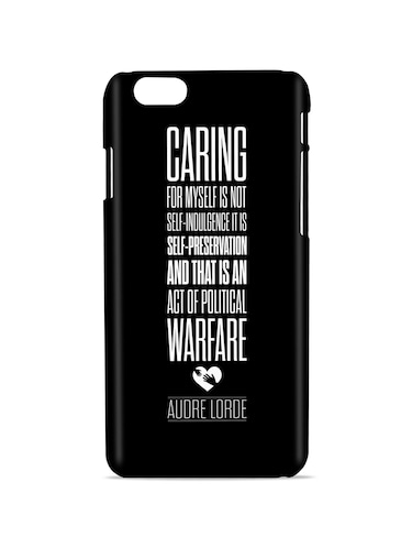 new product efb47 664cc Black Plastic Printed Mobile Back Cover For Apple Iphone 6