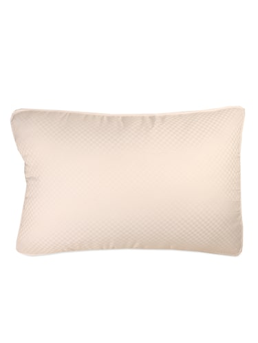 White cotton check pillow - 956739 - Standard Image - 1