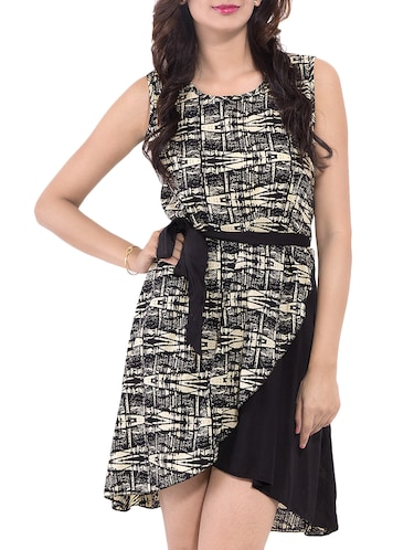 Black Printed Dress - 9668584 - Standard Image - 1