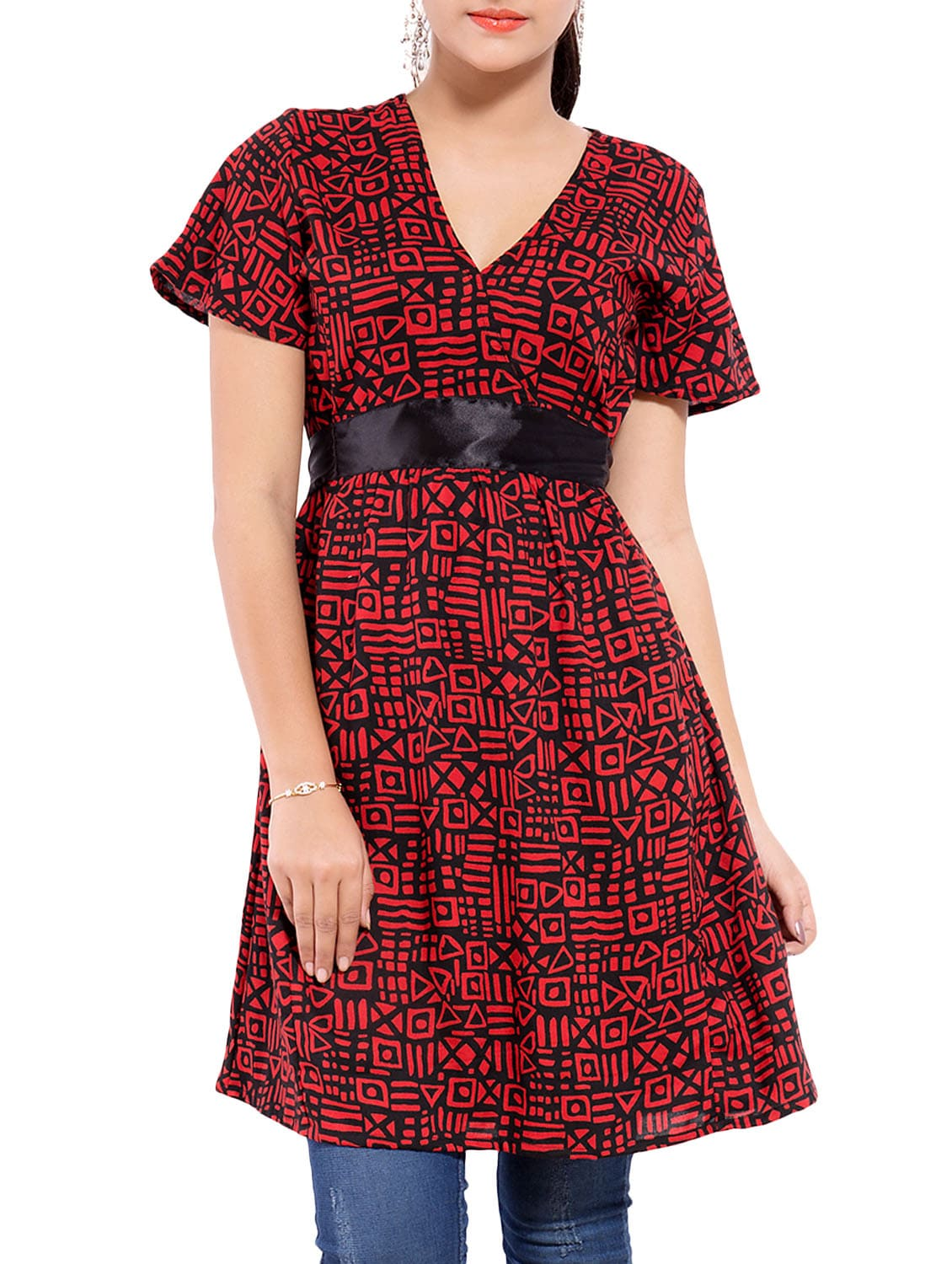 c5334a33c77 Buy Red Rayon Printed A-line Tunic for Women from Goodwill for ₹519 ...