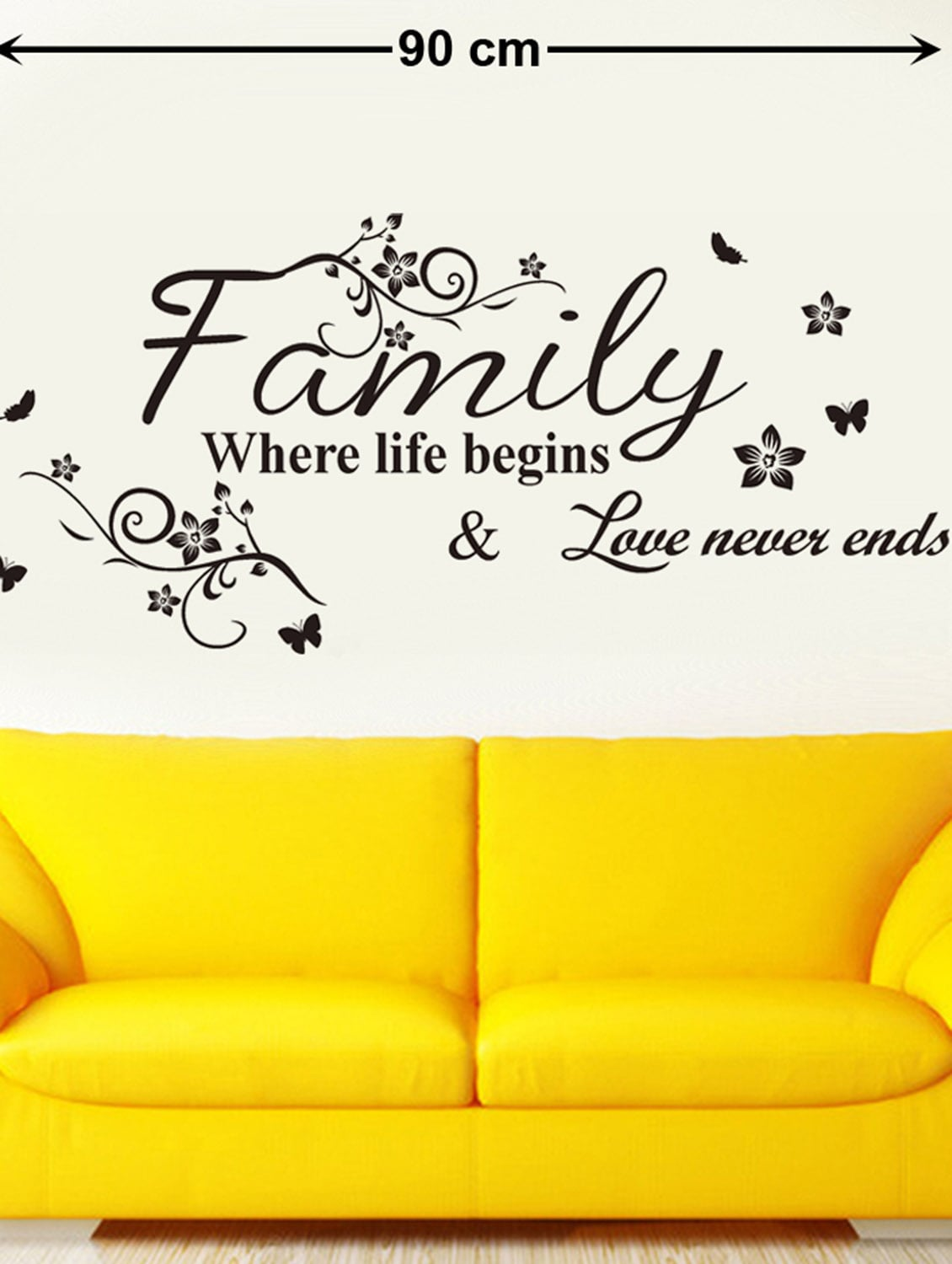 Buy Wall Decals Wall Quote Family Where Life Begins by Stikerskart ...