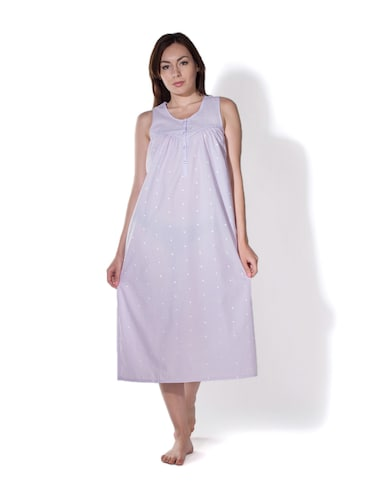5322df6e1c2 Buy Sleevless Long Nighty for Women from Privatelives for ₹999 at 0 ...