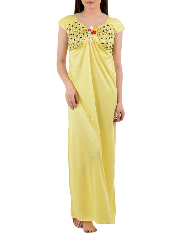 92d4106816 Buy Yellow Color Cotton Nighty by American-elm - Online shopping for ...
